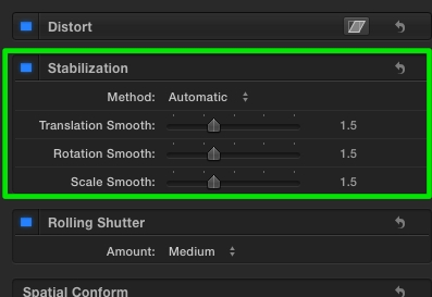 Final cut pro x 102 stabilization or open a project or compound clip timeline select a clip and choose the stabilization options in the inspector ccuart Gallery